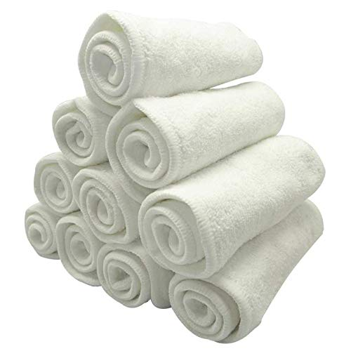 12 pcs 4-layers Bamboo & Microfiber Blend Absorbent Inserts