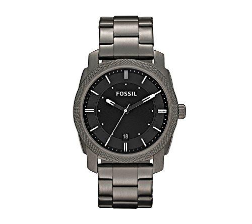 Metal Watch (Fossil Men's FS4774 Machine Smoke Stainless Steel Bracelet Watch)