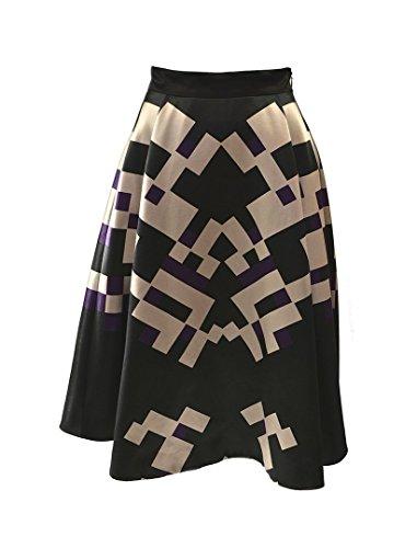 MIDI falda diseño negro