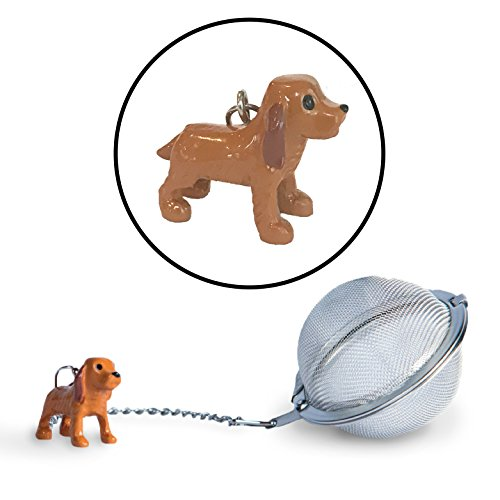 Cocker Spaniel Tea Ball Infuser | Stainless Steel Strainers - Great Holiday Gift or Stocking Stuffer for Tea and Dog Lovers by Simply Charmed (Cocker Spaniel) (Cocker Spaniel Dachshund)