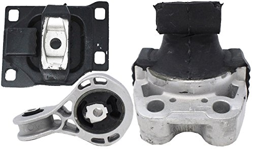 Engine Motor and Trans Mount Set of 3 for 2008 2009 2010 2011 Ford Focus 2.0L Compatible with A5312 A5322 A2986
