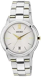 Seiko SGEF45P1 - Reloj analógico de caballero de cuarzo con correa de acero inoxidable multicolor - sumergible a 50 metros