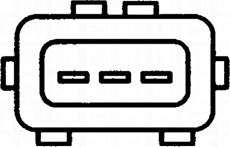 Hella 6pu 009 163 831 Impulsgeber Kurbelwelle 12v 3 Polig Kabellänge 855mm Auto