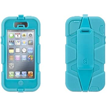 Griffin Pool Blue Heavy Duty Survivor Case for iPhone 5/5s, iPhone SE - Military-Duty Case w/Belt Clip for iPhone 5s