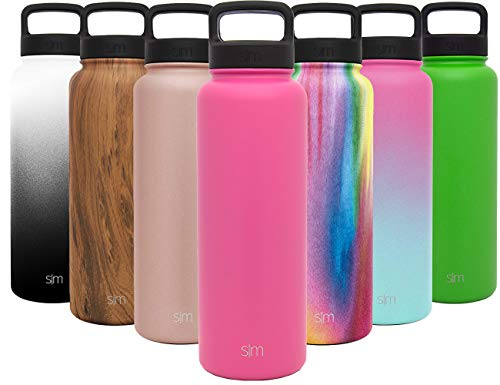 40k Gallon (Simple Modern 40 oz Summit Water Bottle - Stainless Steel Metal Flask +2 Lids - Wide Mouth Double Wall Vacuum Insulated Pink Leakproof Thermos -Cotton Candy)
