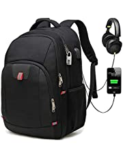 Della Gao Laptop Backpack,Extra Large Anti-Theft Business Travel Laptop Backpack Bag with USB Charging Port