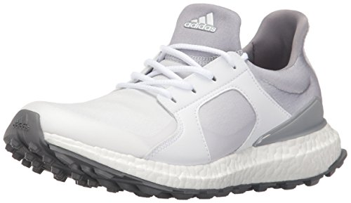 adidas Women's Climacross Boost Golf Shoe, White, 8 M US