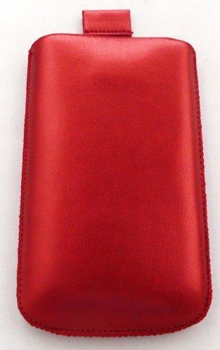 Emartbuy Metallic Roter Beutel / Case / Hülle / Inhaber (Größe L) Mit Ziehen- Tab Mechanismus Für Apple Iphone 3G/3Gs