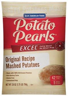 Excel Mashed Potato Pearls - 28 oz. pouch 2pk Box