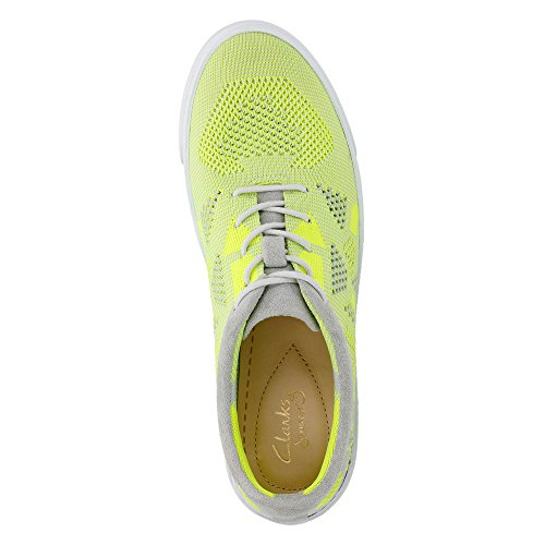 Clarks Mujeres Glove Glitter Yellow Neon Knit