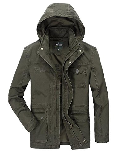 Giacche Giacche Giacche Cotone Autunno AFSJEEP Green Uomo Outwear Outwear Outwear Army 327 Casual 100 JEEP AFS qZIwAA