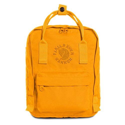 Fjallraven - Kanken, Re-Kanken Mini Recycled Backpack for Everyday Use, Heritage and Responsibility Since 1960, Sunflower Yellow (1960 Purses)