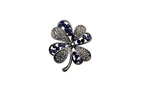 YOUMAP BRAND Jewelry Fashion Brooch Jewelry For Wedding Korean Cute Clover Flower Crystal Rhinestone Women Brooches Pin - Chanel Eyeglasses Rhinestone