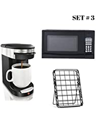 Hamilton Beach 0.9 cu ft Digital Microwave Bundle with Personal One Cup Pod Brewer and 35