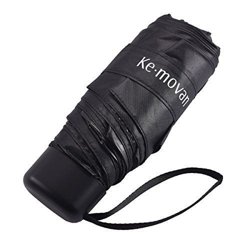 Compact Mini Umbrella , Small & Ultra Light Sun Protection UV Resistance Best for Travel (Black)