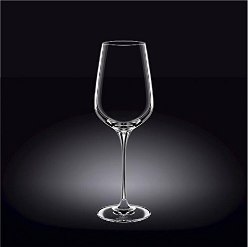 Wilmax England Crystalline Led Free Crystal Wine Glass In Colour Gift Box Set of Two (2, 19 Oz Rose)