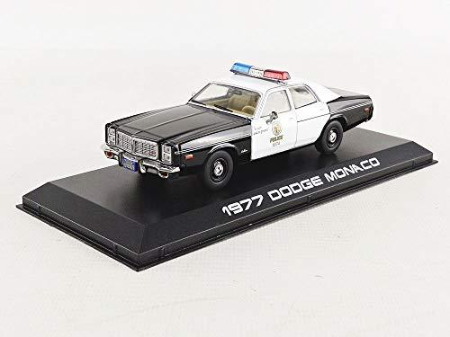 Greenlight 1977 Dodge Monaco Metropolitan Police The Terminator (1984) Movie 1/43 Die-cast Model Car 86534, Black/White