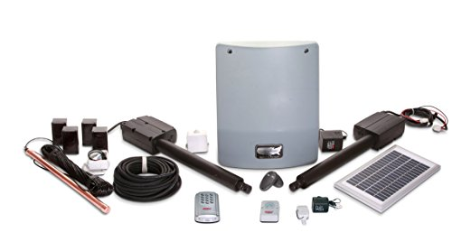 USAutomatic 020355 Medium 300 Solar Charged Automatic Gate Opener Double Gate Fully Automated Kit