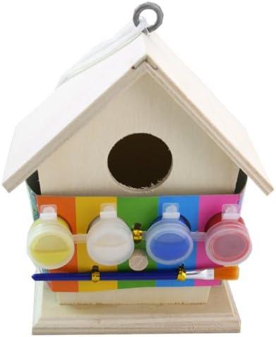 YJYQ Vogelhaus Bausatz Kinder Holz Vogelhaus Bastelset Kinder Vogelhaus zum Bemalen und Basteln DIY Kreativ Spielzeug Geschenk f/ür Kinder Geburtstag Weihnachten