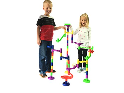 Mr. Marble Run Starter Set (48 Large Marble Run Pieces + 10 Glass Marbles) by Mr. Marble Run (Image #3)