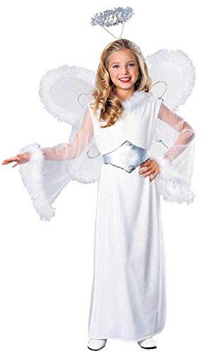 [Angel Child Girls Christmas Dress Up Costume and Wings Size Small 4-6] (Zombie Jailbird Costume)