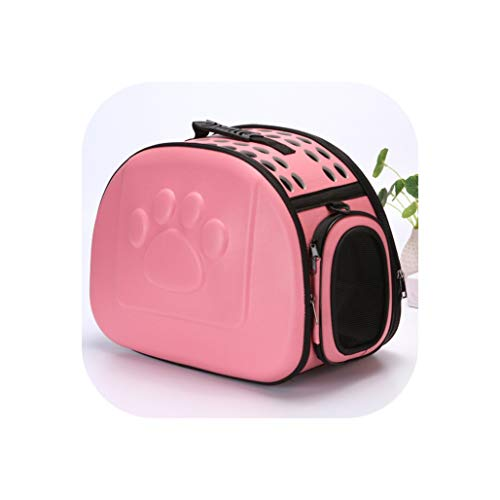 (Pet Carriers Carrying for Small Cats Dogs Handbag Dog Transport Bag Basket bolso perro torba dla psa honden tassen,Pink,42x26x35cm)