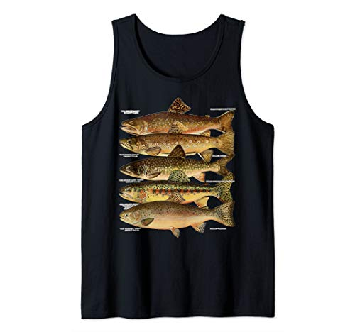 Types of Trout Fish Species Fishing Gift  Tank Top