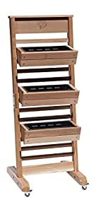 GRO Products Vertical GRO System with 3-Planter Boxes and Casters, 18-Inch by 58-Inch