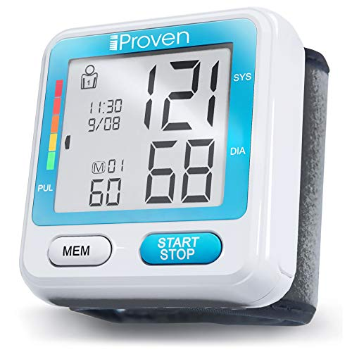 [New 2019 Model] iProven Digital Blood Pressure Monitor – BP Cuff for Wrist – with 2×90 Memories – Blood Pressure Watch – Protective Case and Batteries Included – BPM-317