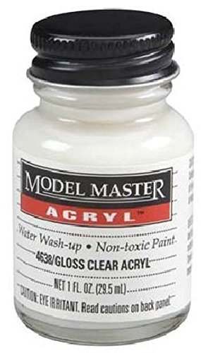 (Gloss Clear Testors Acrylic Plastic Model Paint)