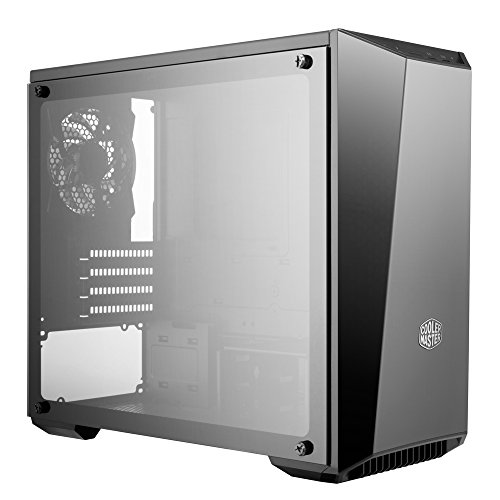 Cooler Master MasterBox Lite 3.1 TG mATX Case with Dark Mirror Front Temper Glass Side Panel Customizable Trim Colors (MCW-L3S3-KGNN-00)