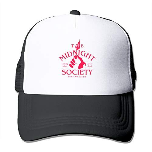 - TGASOIAHE The Midnight Society Trucker Hats High Air-Flow Cooling Mesh Design - Black Trucker Mesh Cap for Wemen and Men