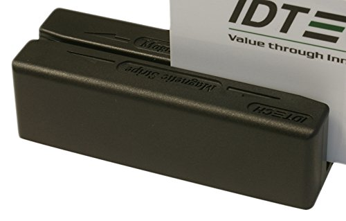 Idtech IDMB-334133BX MiniMag II MagStripe Reader, Track 3, USB Keyboard Emulation, Bottom Exit, Black
