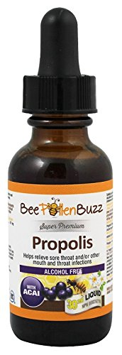 Bee Pollen Buzz Propolis Tincture Alcohol Free 30 ml Acai Flavor For Sale