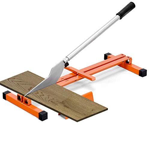 Superbuy Vinyl Floor Cutter Laminate Flooring Cutter for 8-inch & 12-inch Wide Floor, Hand Tool V-Support Wood Planks Heavy Duty Steel Quick Cut, Vinyl Tile Flooring and more (Orange)