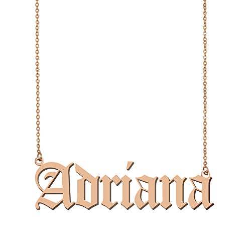 GR859C Old English Personalized Custom Name Necklace ()