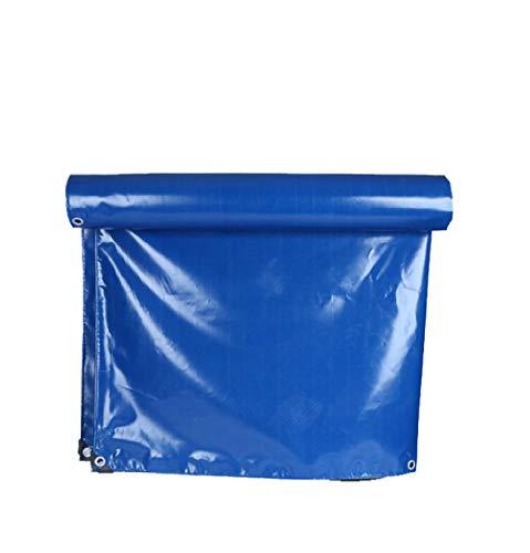 Qwertuiip Tarpaulin Wasserdichtes Tuch, hellblau PVC Wasserdichte Sonnencreme verschleißfestem Tuch Messer zieht Ultra-leichte Auto LKW-Plane Leinwand Planen Vielzahl von Größenauswahl