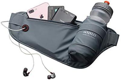 MIJILO ランニングベルト 調節可能なウエスト水分補給パック ウォーターボトルホルダー付き ユニセックス ファニーパック 跳ねない 防水 反射 ランナー フィットネス ハイキング キャンプ サイクリング アウトドア iPhone 6 7 8 Plus用