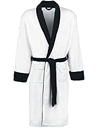 Official Star Wars White Stormtrooper Embossed Dressing Gown Bathrobe - One Size