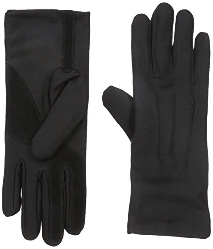 (Isotoner Womens Stretch Classics Fleece Lined Gloves, black, One Size )