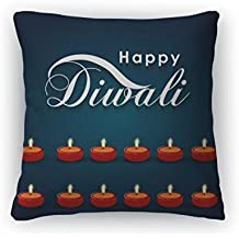 "Gear New Throw Pillow Accent Decor, Greeting Card For Diwali Holiday, 20"" Cover Only, 6301957GN"