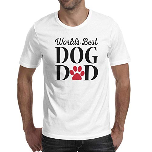 RTEFTGFH Short Sleeve Men Best Dog Dad top Summer -