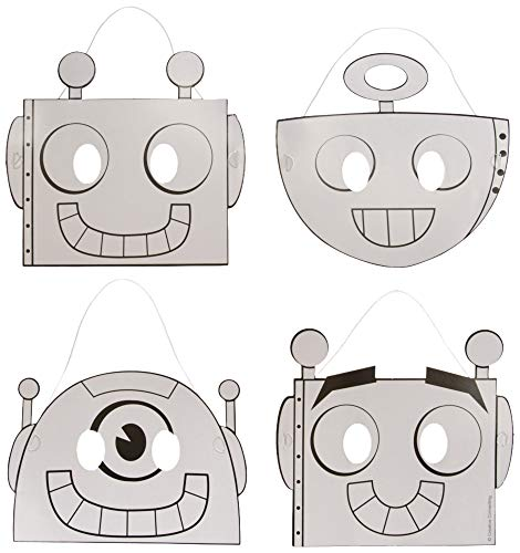 Creative Converting 332234 Robots Science Fair Birthday Tableware Decorations Party Supplies, One Size, -