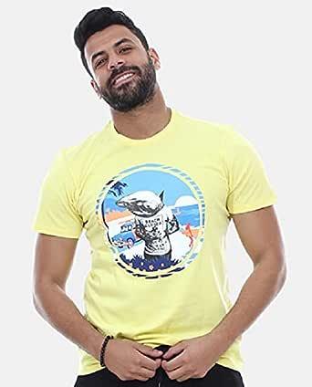 Chameleon T-Shirt For Men, Short Sleeve, Round Neck - - 2724830689485