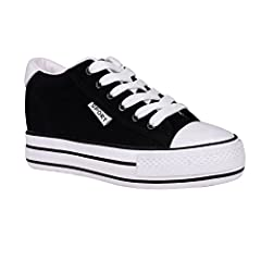 buganda women classic canvas flat sneakers casual lace up hid