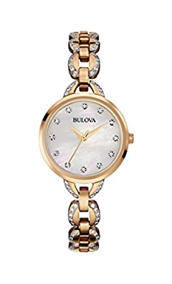 Bulova Women's 98L207XG Quartz Rose Gold Case Mother of Pearl Dial Watch (Certified Refurbished) from Bulova