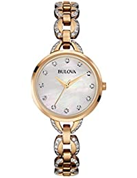 Women's 98L207XG Quartz Rose Gold Case Mother of Pearl Dial Watch (Certified Refurbished)