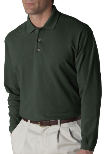 ultraclub-mens-long-sleeve-classic-pique-polo8532-forest-green-2xl