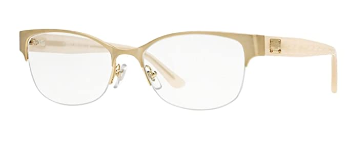 versace ve1222 eyeglass frames 1196 53 brushed gold