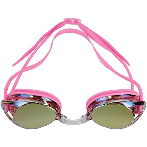 (Water Gear Metallic Vision Swim Goggles Anti-fog Junior fit for Competition - PINK)